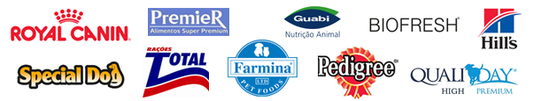 Royal Canin, Pedrigree, Permier, Evialis, Special Dog, Rações Total, Farmina, Guabi, Qualiday